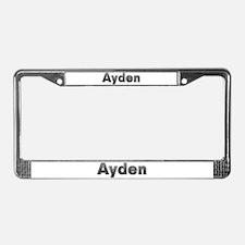 Ayden Metal License Plate Frame