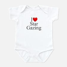 """""""I Love (Heart) Star Gazing"""" Infant Bodysuit"""
