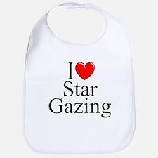 """I Love (Heart) Star Gazing"" Bib"