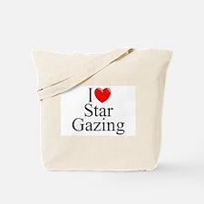 """I Love (Heart) Star Gazing"" Tote Bag"