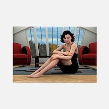 Vintage Woman Magnets