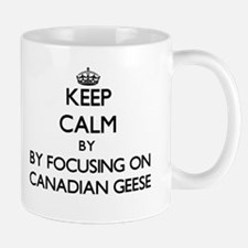 Keep calm by focusing on Canadian Geese Mugs