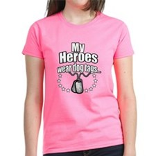 My Heroes wear dog tags 2 Tee