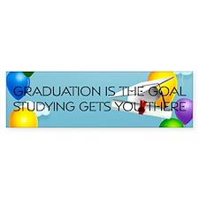 Graduation Goal Bumper Sticker