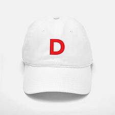 Letter D Red Baseball Baseball Baseball Cap