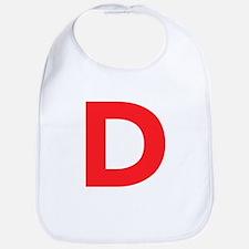 Letter D Red Bib