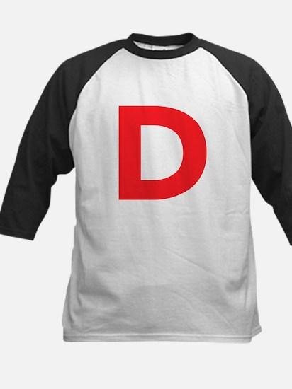 Letter D Red Baseball Jersey