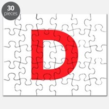 Letter D Red Puzzle