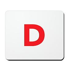 Letter D Red Mousepad