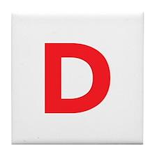 Letter D Red Tile Coaster