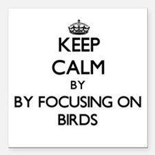 Keep calm by focusing on Birds Square Car Magnet 3