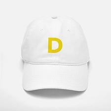 Letter D Yellow Baseball Baseball Baseball Cap