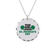 This girl loves St. Patrick' Necklace