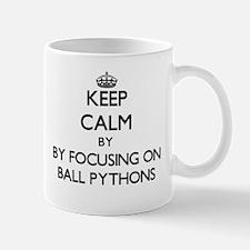 Keep calm by focusing on Ball Pythons Mugs