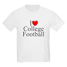 """I Love (Heart) College Football"" T-Shirt"