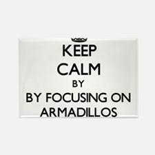 Keep calm by focusing on Armadillos Magnets