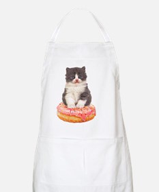 Kitten on a Donut Apron