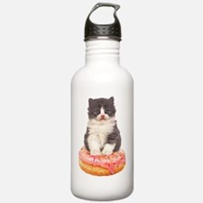 Kitten on a Donut Water Bottle