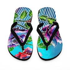 02 Asia Batik Art Flip Flops