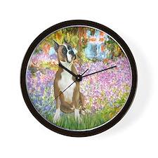 Monet's Garden & Boxer Wall Clock