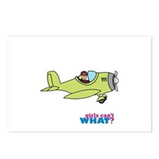 Girl Airplane Pilot Light Postcards (Package of 8)