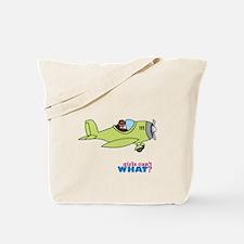 Girl Airplane Pilot Dark Tote Bag