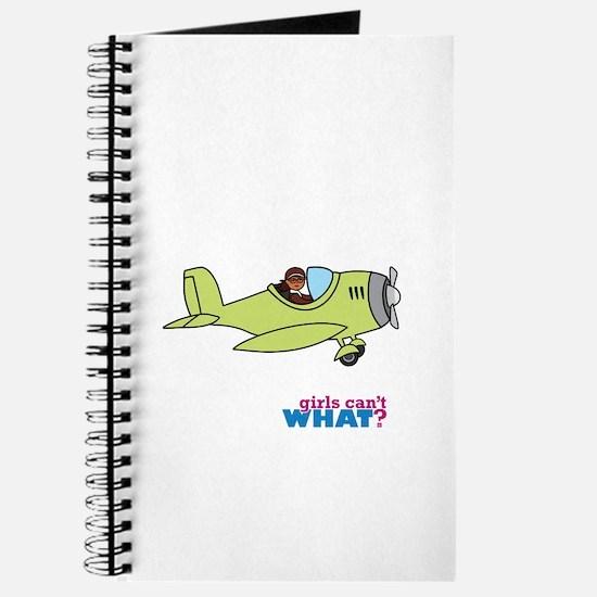 Girl Airplane Pilot Dark Journal