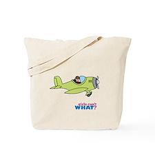 Girl Airplane Pilot Medium Tote Bag