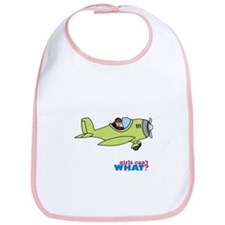 Girl Airplane Pilot Medium Bib