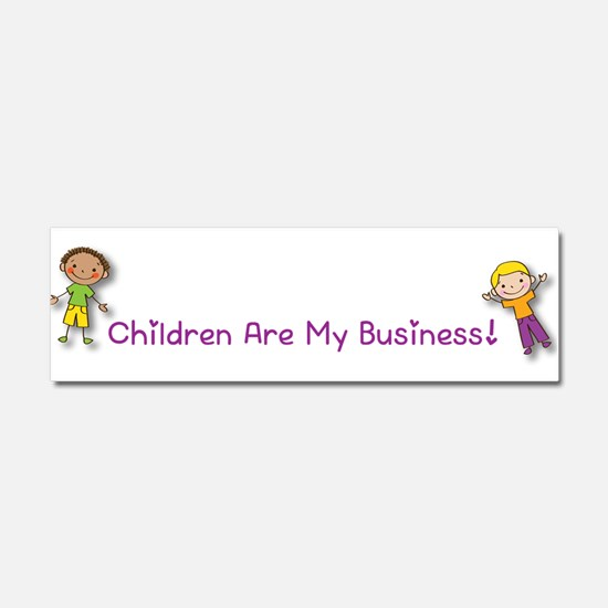Children Are My Business Car Magnet 10 x 3
