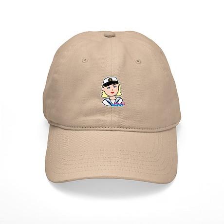 Light/Blonde Navy Head - Dress Whites Cap