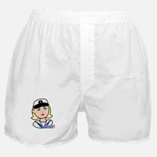 Light/Blonde Navy Head - Dress Whites Boxer Shorts