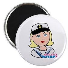 Light/Blonde Navy Head - Dress Whites Magnet