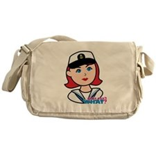 Light/Red Navy Head - Dress Whites Messenger Bag