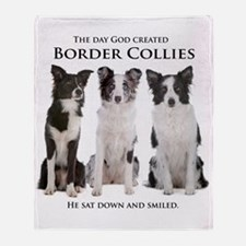 Creation of Border Collies Throw Blanket