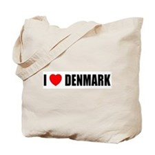 I Love Denmark Tote Bag