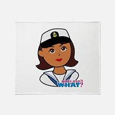 Dark Navy Head - Dress Whites Throw Blanket