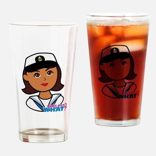 Dark Navy Head - Dress Whites Drinking Glass