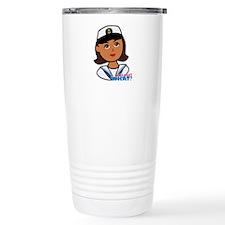 Dark Navy Head - Dress Travel Coffee Mug