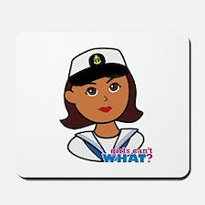 Dark Navy Head - Dress Whites Mousepad