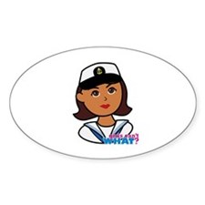 Dark Navy Head - Dress Whites Decal