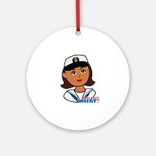 Dark Navy Head - Dress Whites Ornament (Round)