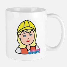 Construction Worker Head - Light/Blonde Mug