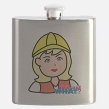 Construction Worker Head - Light/Blonde Flask