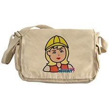 Construction Worker Head - Light/Blo Messenger Bag
