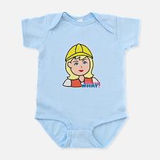 Construction Worker Head - Light/B Infant Bodysuit