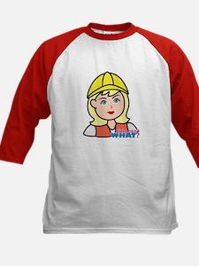 Construction Worker Head - Li Kids Baseball Jersey