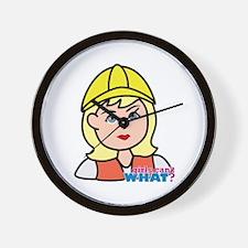 Construction Worker Head - Light/Blonde Wall Clock