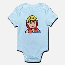 Construction Worker Head - Light/R Infant Bodysuit