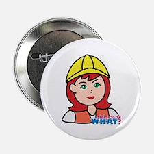 "Construction Worker Head - Light/Red 2.25"" Button"